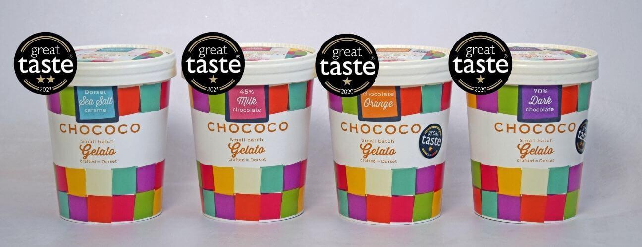 Gelato Tubs Range Great Taste Award Header