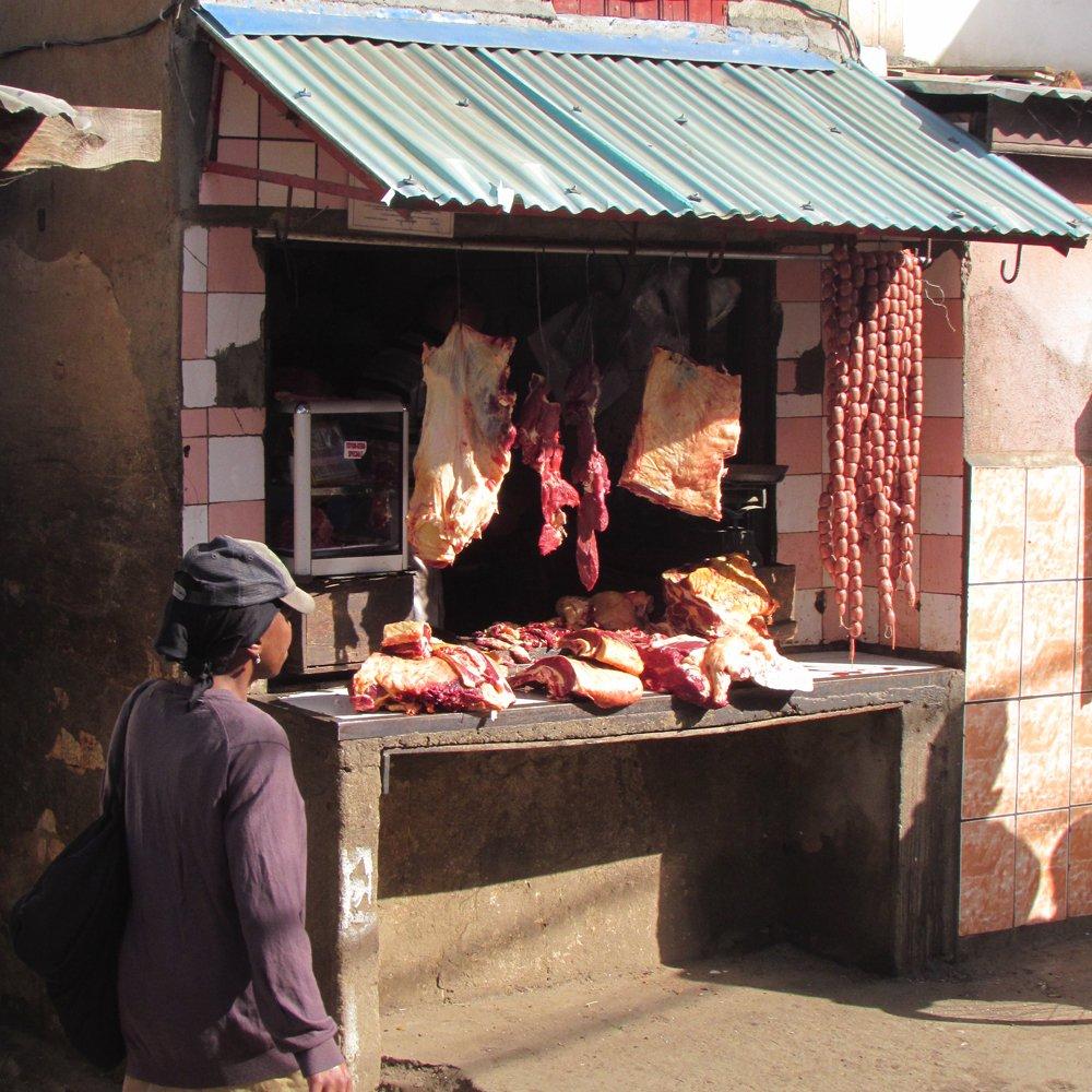 typical butchers shop tana