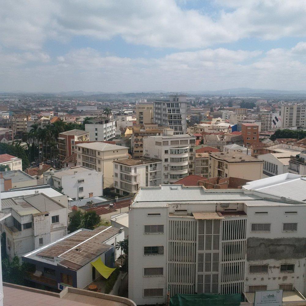 view from bedroom window tana